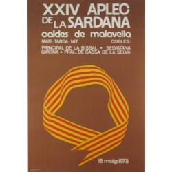 XXIV APLEC DE LA SARDANA. Caldes de Malavella. 1973