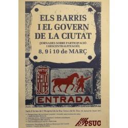 ELS BARRIS I EL GOVERN DE LA CIUTAT...