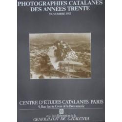 PHOTOGRAPHIES CATALANES DES ANNÉES TRENTE