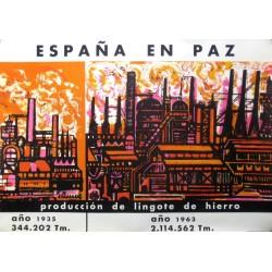 ESPAÑA EN PAZ LINGOTE DE HIERRO