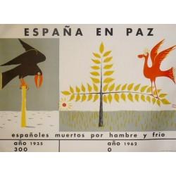 ESPAÑA EN PAZ MUERTOS POR HAMBRE Y FRÍO