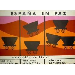 ESPAÑA EN PAZ EXTRACCIÓN DE HIERRO