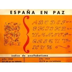 ESPAÑA EN PAZ ÍNDICE ANALFABETISMO