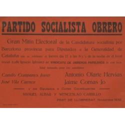 PARTIDO SOCIALISTA OBRERO - GRAN MITIN