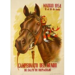 CAMPEONATO DE MUNDO DE SALTO DE OBSTACULOS. MADRID 1954