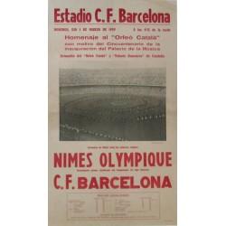 NIMES OLYMPIQUE - C.F. BARCELONA, ESTADIO CLUB DE FUTBOL BARCELONA