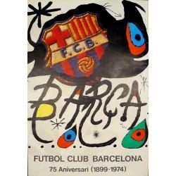 MIRÓ. BARÇA, FUTBOL CLUB BARCELONA 75 ANIVERSARI (1899-1974)