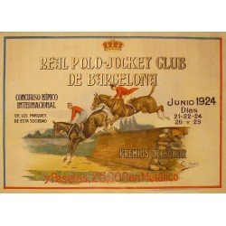 REAL POLO - JOCKEY CLUB DE BARCELONA. JUNIO 1924