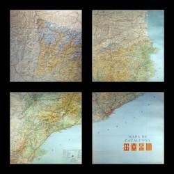 MAPA DE CATALUNYA (4 HOJAS)