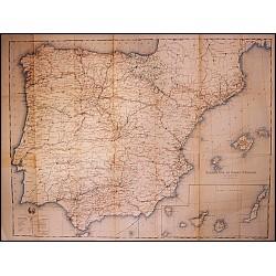MAPA DE ESPAÑA. ESTADISTICA DE OBRAS PUBLICAS