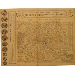 "PLAN DE PARIS REGALO DEL ""ALMANAQUE BAILLY-BAILLIERE"""