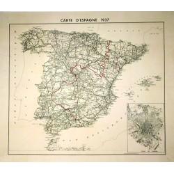 CARTE D'ESPAGNE 1937 - PLAN DE MADRID