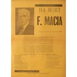 HA MORT F. MACIA.
