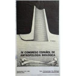 IV CONGRESO ESPAÑOL DE ANTROPOLOGIA BIOLOGICA. SUBIRACHS