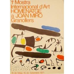 1ª MOSTRA INTERNACIONAL D'ART.HOMENATGE A JOAN MIRÓ i FERRÀ, JOAN (Barcelona 1893 - Palma de Mallorca 1983)
