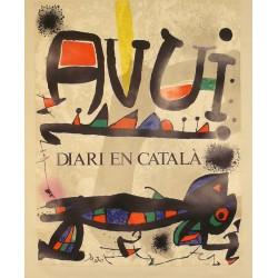 AVUI DIARI EN CATALÀ. JOAN MIRÓ i FERRÀ, JOAN (Barcelona 1893 - Palma de Mallorca 1983)