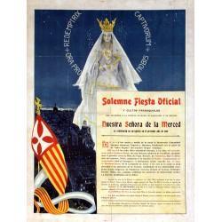SOLEMNE FIESTA NUESTRA SEÑORA DE LA MERCED.1906 BARCELONA