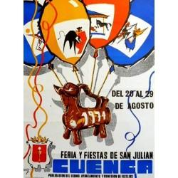 FERIA Y FIESTAS DE SAN JULIAN CUENCA 1974