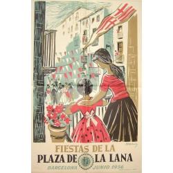 FIESTAS DE LA PLAZA DE LA LANA 1956.. BARCELONA