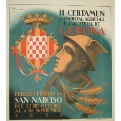 GERONA FERIAS Y FIESTAS DE SAN NARCISO 1951