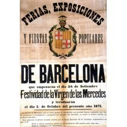 FERIAS, EXPOSICIONES DE BARCELONA 1871