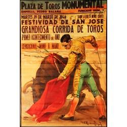PLAZA DE TOROS MONUMENTAL. 1946. SAN JOSE
