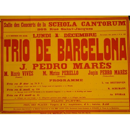 TRIO DE BARCELONA - J. PEDRO MARES