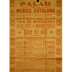 PALAU DE LA MUSICA - TRIO DE BARCELONA