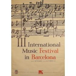 III INTERNATIONAL MUSIC FESTIVAL BARCELONA