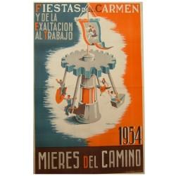 MIERES DEL CAMINO 1954 FIESTAS DEL CARMEN