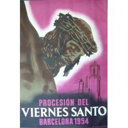 BARCELONA 1954 VIERNES SANTO