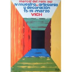 VICH MERCAT DEL RAM 1967. IV MUESTRA DE ARTESANIA- VIC