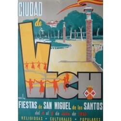 CIUDAD DE VICH FIESTAS DE SAN MIGUEL 1956- VIC