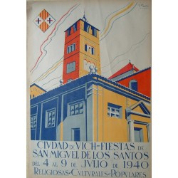 CIUDAD DE VICH FIESTAS DE SAN MIGUEL 1940- VIC