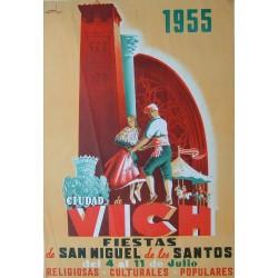 CIUDAD DE VICH FIESTAS DE SAN MIGUEL 1955- VIC