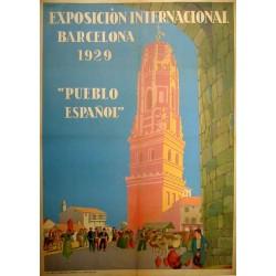 EXPOSICION INTERNACIONAL BARCELONA PUEBLO ESPAÑOL