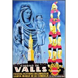 VALLS FIESTAS DE SANTA MARIA DE LA CANDELA 1951