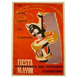 FIESTA MAYOR VILAFRANCA DEL PANADES 1961