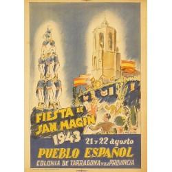 FIESTA DE SAN MAGIN 1943 PUEBLO ESPAÑOL