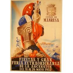 CIUDAD DE MANRESA. FIESTAS Y GRAN FERIA EXTRAORDINARIA DE LA ASCENSION 1952