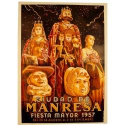 CIUDAD DE MANRESA. FIESTA MAYOR 1957