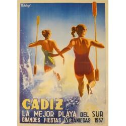 CADIZ LA MEJOR PLAYA DEL SUR. FIESTAS 1957