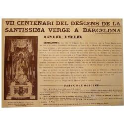 VII CENTENARI DESCENS DE LA VERGE A BARCELONA