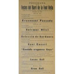 IGUALADA FESTES DEL BARRI DE LA FONT VELLA 1935