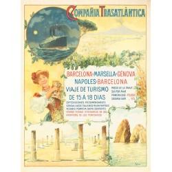 COMPAÑIA TRASATLANTICA.BARCELONA-MARSELLA-GENOVA-NAPOLES