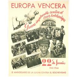 EUROPA VENCERA. III ANIVERSARIO LUCHA CONTRA EL BOLCHEVISMO