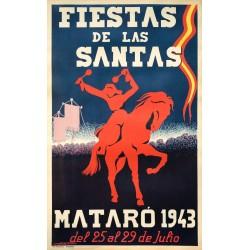 FIESTAS DE LAS SANTAS MATARO 1943