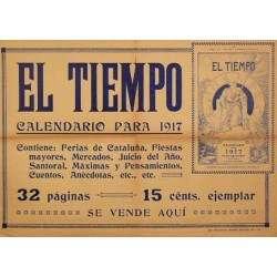 EL TIEMPO, CALENDARIO PARA 1917