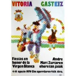 FIESTAS DE LA VIRGEN BLANCA VITORIA 1970