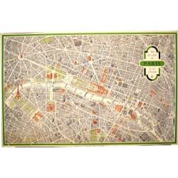 VUE DU CENTRE DE PARIS A VOL D'OISEAU